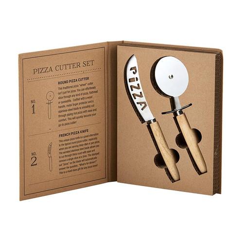 Cardboard Pizza Cutter Set