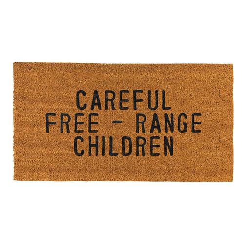 Door Mat - Careful Free - Range Children