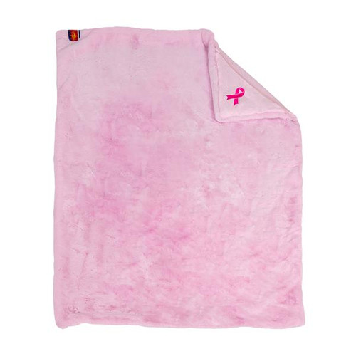 Faux Fur Original Blanket, Pink with Pink Backing