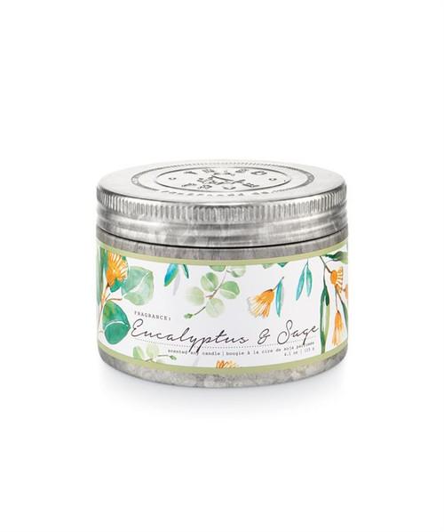 Tried & True Eucalyptus & Sage Small Tin Candle