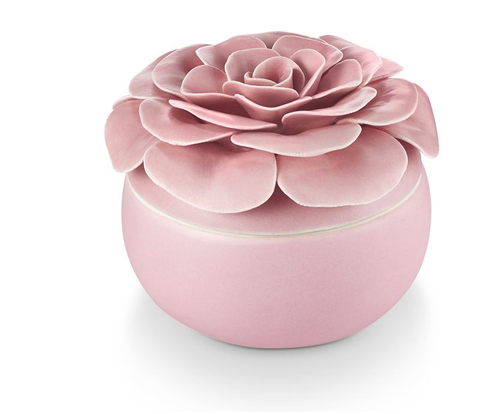 Thai Lily Ceramic Flower Candle