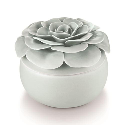 Fresh Sea Salt Ceramic Flower Candle