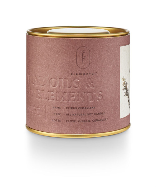 Citrus Cedarleaf Natural Tin Candle