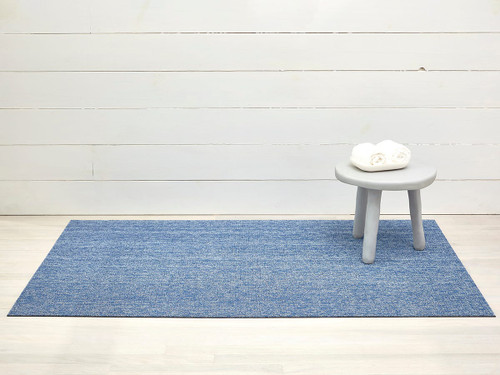 Heathered Shag Doormat 18x28 - CORNFLOWER