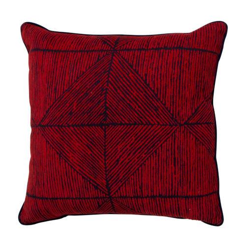 Mandla 20x20 Pillow - Cajun And Indigo With Linen Indigo Backing And Linen Indigo Welt