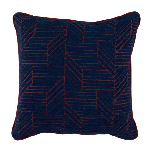 Thisbee 22x22 Pillow-Indigo And Cajun With Premier Cajun Backing And Premier Cajun Welt