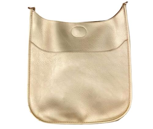 VEGAN Leather Classic Messenger, Gold-(No Strap)