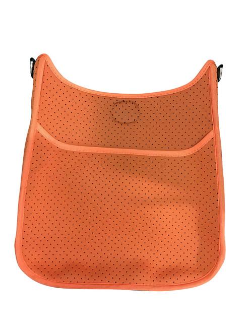 Perforated Neoprene Messenger, Orange-(No Strap)