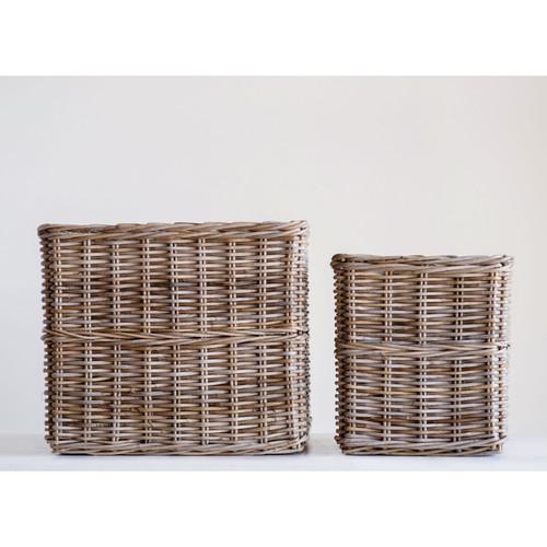 Square Natural Rattan Basket