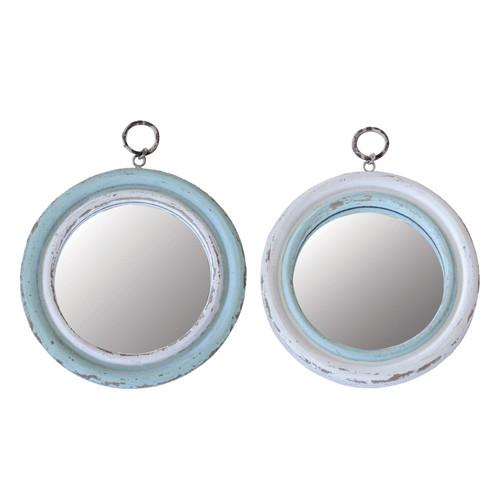"""10""""L x 12-1/2""""H Wood Framed Mirror"""