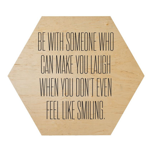 """Wood """"Be With Someone"""" Wall Decor"""