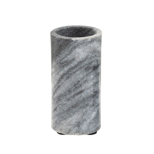 Marble Tealight Holder, Black