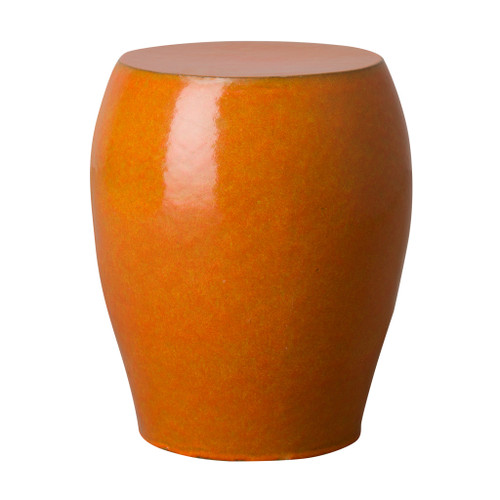 Seiji Garden Stool/Table, Bright Orange Glaze
