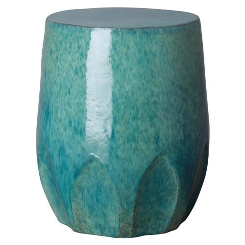 Large Calyx Garden Stool/Table, Teal Glaze