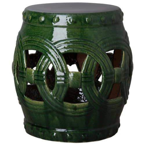Large Eternity Garden Stool/Table, Green Glaze