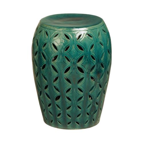 Lattice Garden Stool/Table, Green Glaze