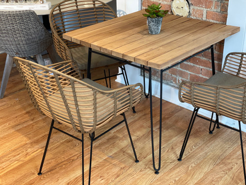 Metro Dining Set 40% OFF w/ Cedar Cushions- Dining Table Plus 4 Dining Chairs
