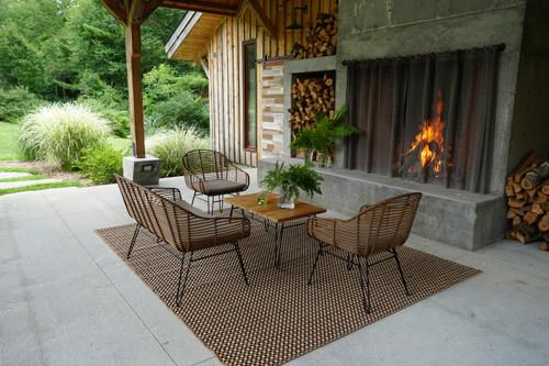 Metro 4 Piece 40% OFF Brown Sofa Set w/ Cedar Cushions