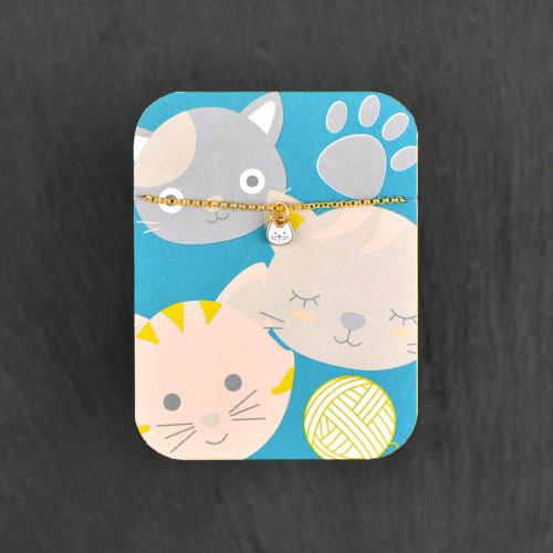 Enamel Necklace - Cat