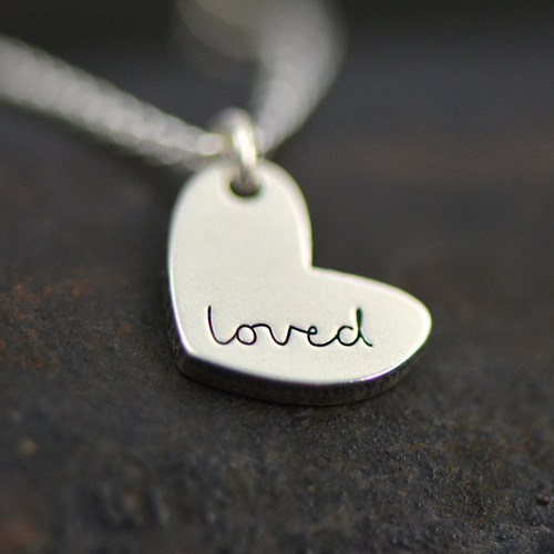 """""""Loved"""" Necklace - Sterling Silver"""