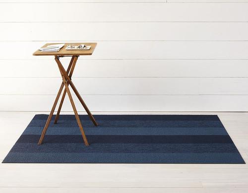 Marbled Stripe Shag 18 x28 - BAY BLUE