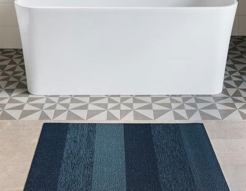 Marbled Stripe Shag 24 x 36 - BAY BLUE