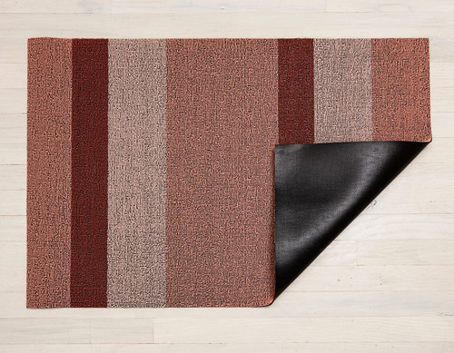 Block Stripe Shag Utility 24X36 - PEACH
