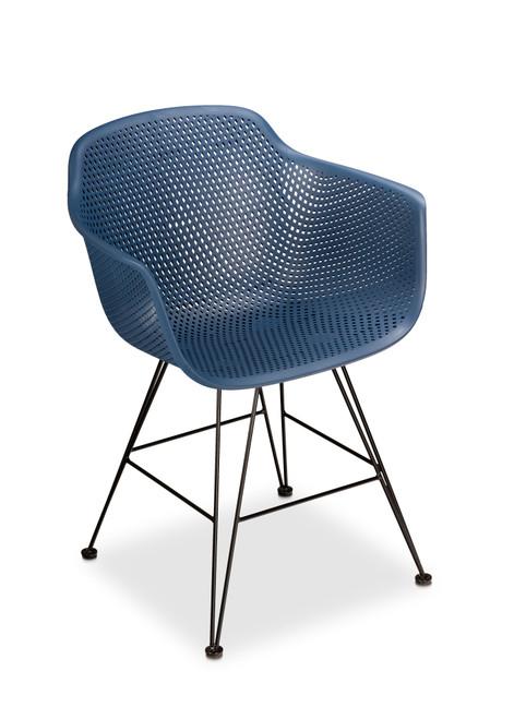 Madi Arm Chair, Navy - Set of 2
