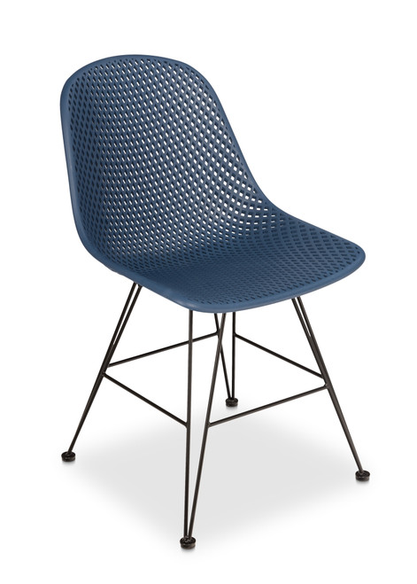 Madi Side Chair,Navy - Set of 2