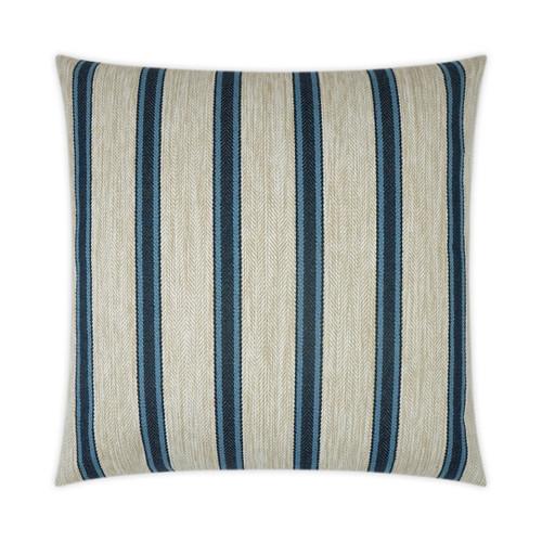 Outdoor Pillow: Peyton- Square, Navy