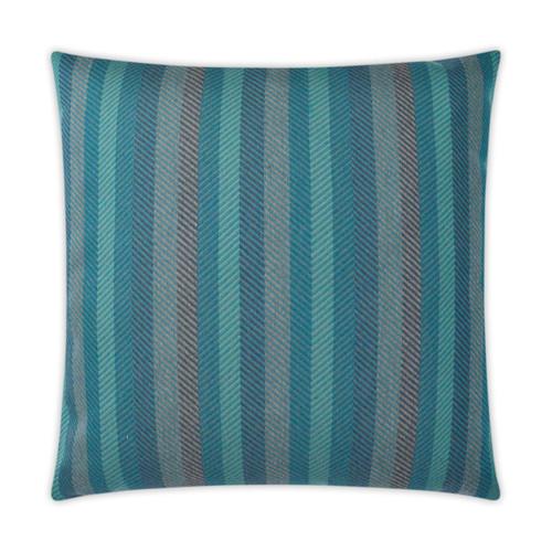 Outdoor Pillow: Lattitude-Square,  Peacock