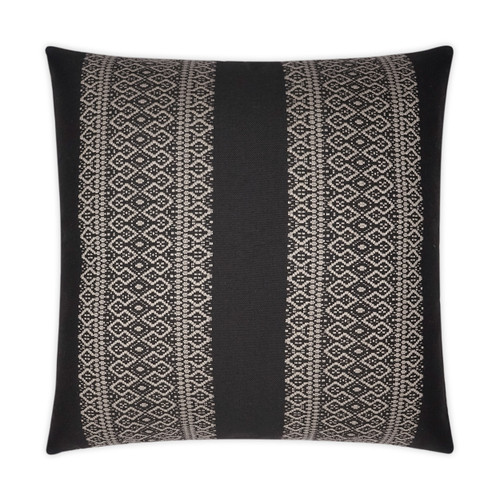 Outdoor Pillow: Upton- Square, Black