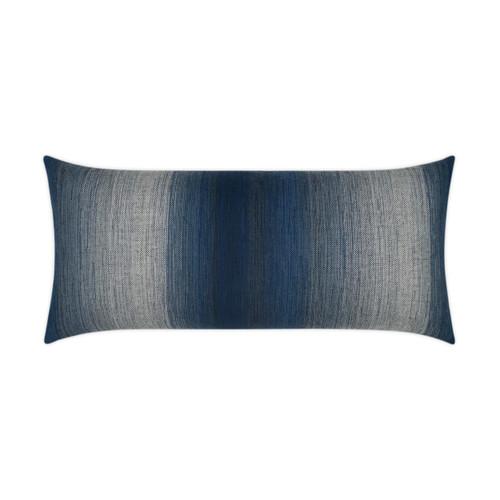 Outdoor Pillow: Meditate- Lumbar, Indigo