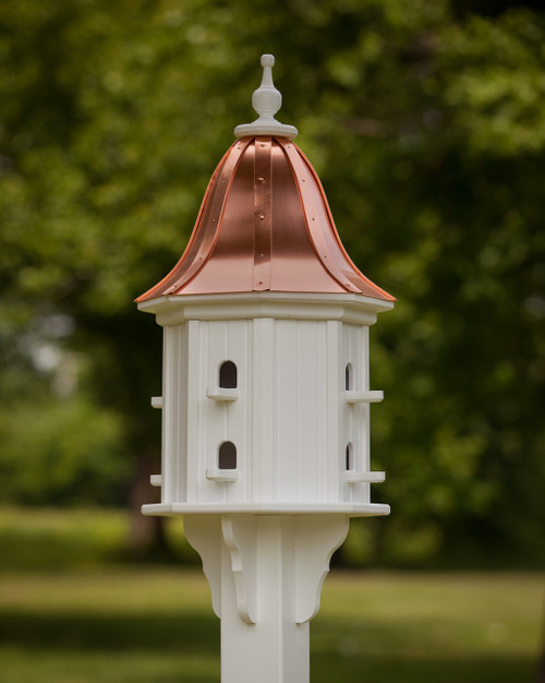 """14"""" Songbird House - 8 Perches -Bright Copper Roof - Bell"""