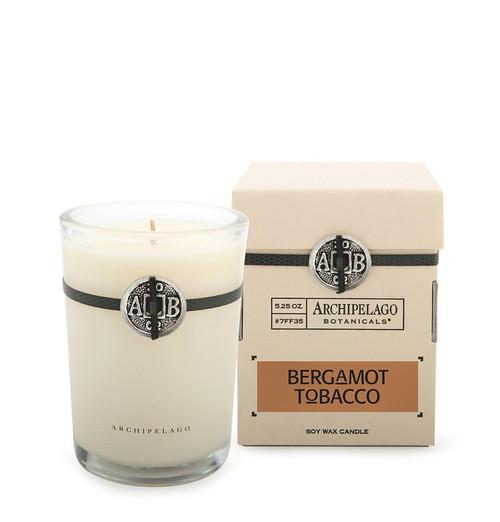 Bergamot Tobacco Boxed Candle, 5.2 oz