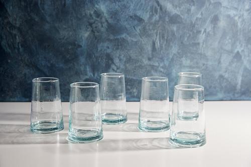 Moroccan Cone Glassware, Set of 6 - Clear