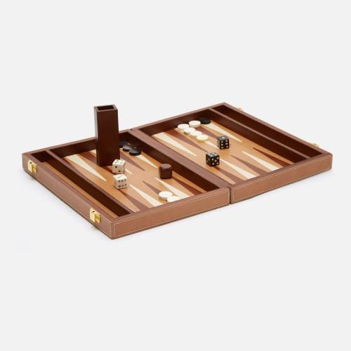 Grantham Backgammon Game Set, Small, Beige/Aged Camel