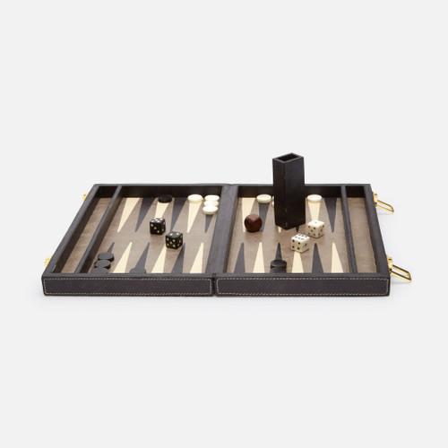 Grantham Backgammon Game Set, Small, Gray/Charcoal