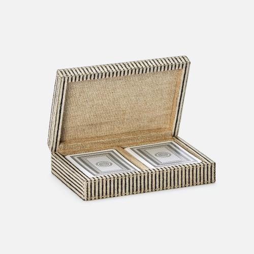 Lesten Card Box, Brown Candy Striped