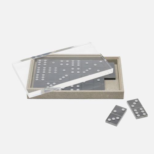Treviso Domino Box Set, Oversized, Sand