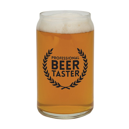 """Beer Can Glass - """"Professional Beer Taster"""""""