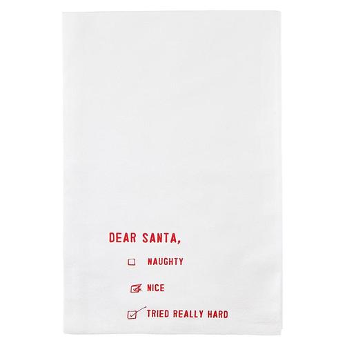 """Thirsty Boy Towel - """"Dear Santa..."""""""