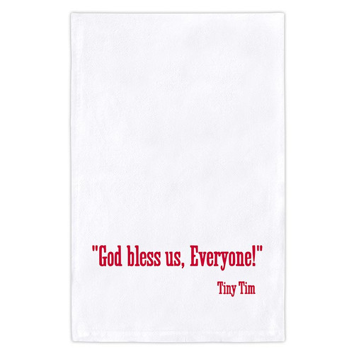 "Thirsty Boy Towel - ""God Bless Us..."""