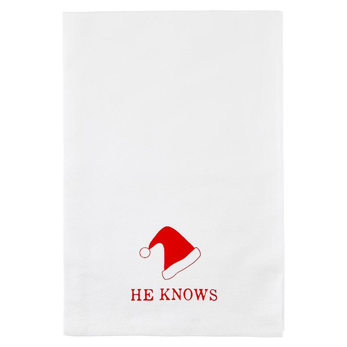 """Thirsty Boy Towel - """"He Knows"""""""