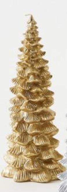 Metallic Tree Candle, Gold