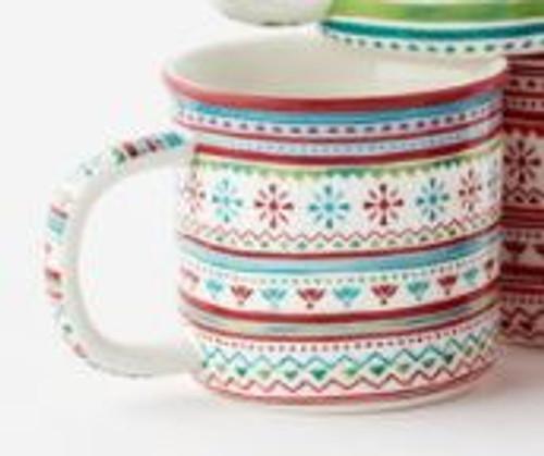 Holiday Sweater Mug, Blue Multi Ceramic