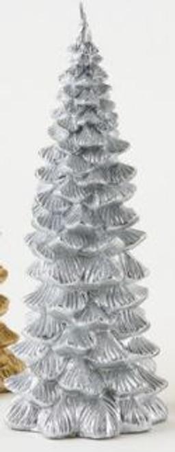 Metallic Tree Candle, Silver