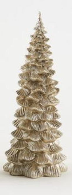 Metallic Tree Candle, Champagne