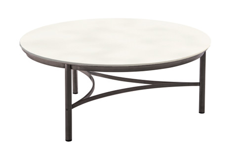 Greenport Round Coffee Table with Ceramic Top