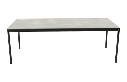 """Greenport 87"""" Dining Table with Ceramic Top and Umbrella Hole"""